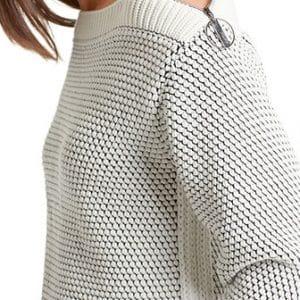Yellow Contrast Zip Knit