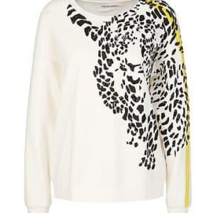 Leopard Motif Sweatshirt