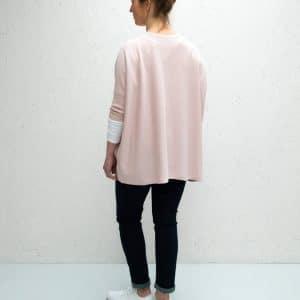 Pink Clara V-neck Jumper