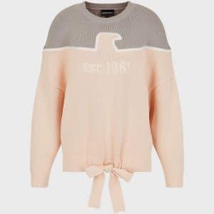 Intarsia Drawstring Sweater