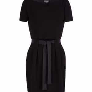 Belted Ribbed Dress