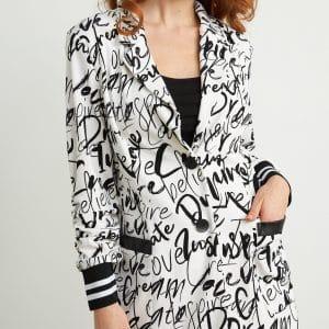 Graffiti Print Jacket 211152