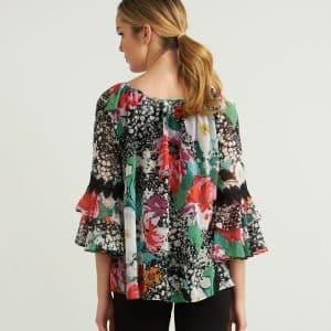 Off-Shoulder Floral Top Style 212302