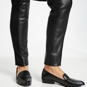 Panel Faux Leather Trouser