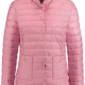 Sea Pink Horizontal Quilted Jacket