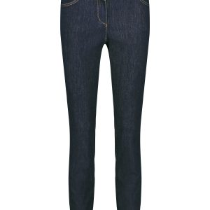 Dark Blue Contrast Stitched Jean