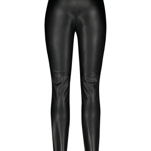 Slim-Fit Faux Leather Trouser