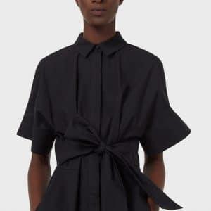 Poplin Shirt Sash Dress