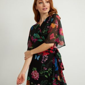 Floral Wrap Dress Style 211063