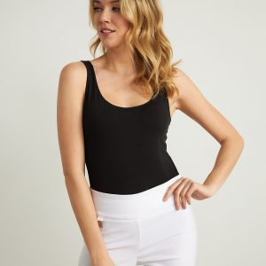 White Cut-out Capris Style 211113