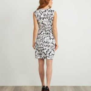 Graffiti Print Dress Style 211309