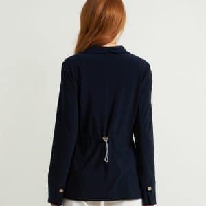 Navy One Button Blazer Style 211328