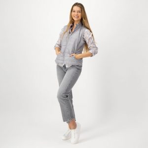 Reversible Gillet in Rosa and Grey