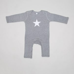 Grey White Star Rompasuit