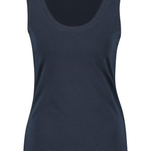 Dark Navy Organic Cotton Vest Top