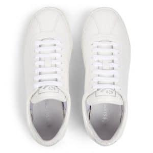 SUPERGA 2869 White Croco Leather Trainer