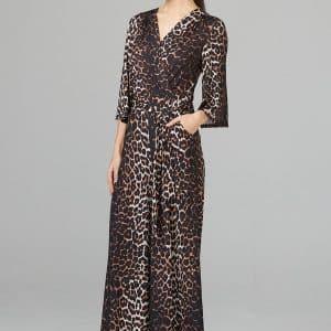 Leopard Print Jumpsuit Style 201235