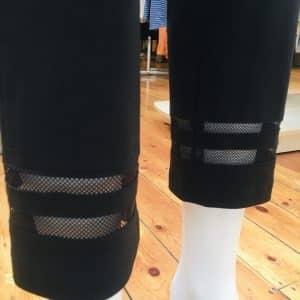 Marie 09 Black Lace Trim Trouser