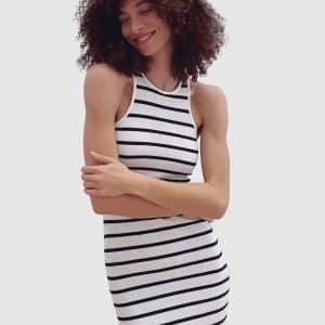 Tommy Ribbed Jersey Midi Dress
