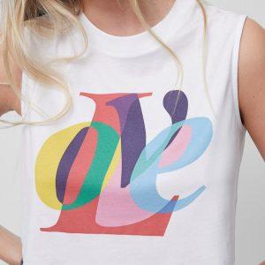 Organic Cotton LOVE Graphic Vest