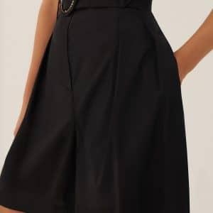 Black Poplin Short