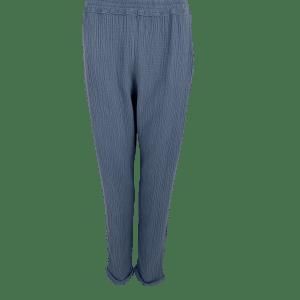 Blue Cotton Dune Trouser