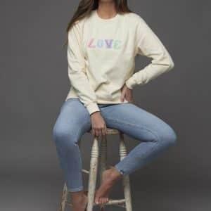 Pastel 'Love' Sweatshirt