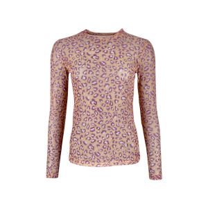 Mesh Peach Leopard Blouse