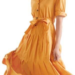 Masala Pleated Maxi Dress