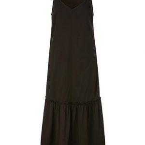 Dark Chocolate Cotton Maxi Dress