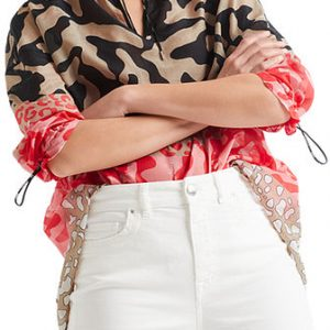 Animal Cotton and Silk Blouse