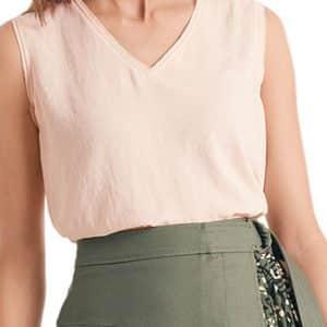 Rose Cotton Blend Top