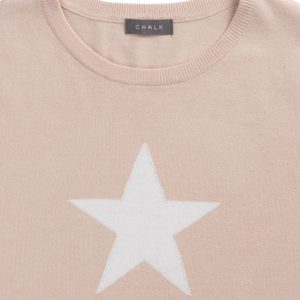Taylor Dusky Pink/Ecru Star Jumper