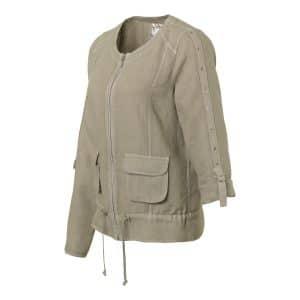 Linen Khaki Cargo Jacket