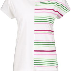 Organic Cotton Striped Applique Top