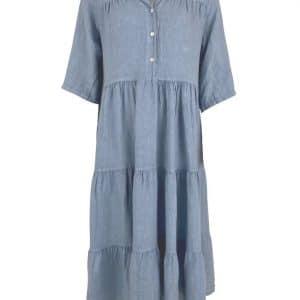 Blue Sienna Linen Maxi Dress