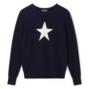 Taylor Navy/Ecru Star Jumper