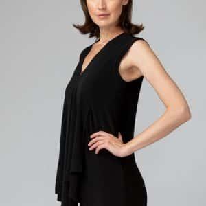 Black Sleeveless Tunic Style 161060