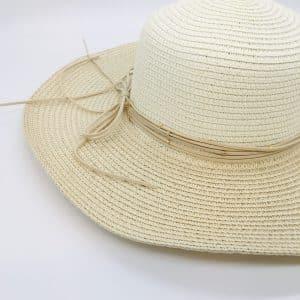 Pale Cream Woven Sun Hat