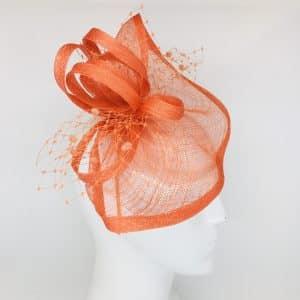 Orange Colleen Fascinator