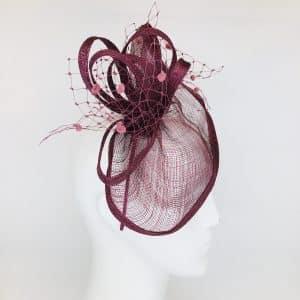 Purple Colleen Fascinator