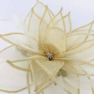 Oatmeal Floral Hair Clip