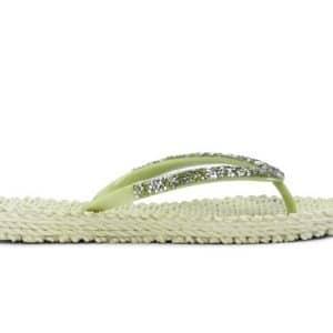 Moss Gem Detail Flip Flops