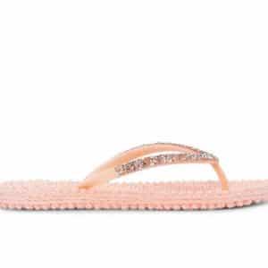 Soft Coral Gem Detail Flip Flops