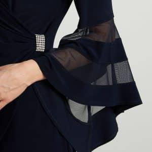 Midnight Blue Bell Sleeve Dress Style 211118