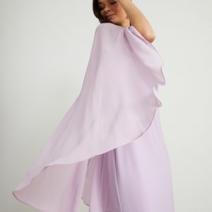 Lilac Sheer Cape Dress Style 211341