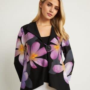 Floral 3/4 Sleeve Jacket 211395