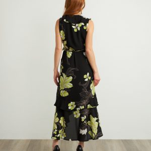Ruffled Floral Dress Style 211483