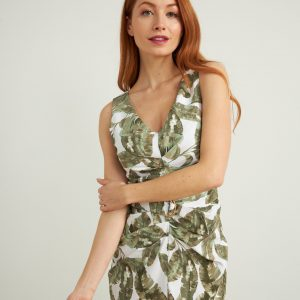 Printed Ruched Dress Style 212066