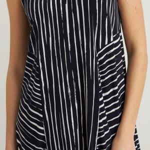 Navy Striped Dress Style 212152